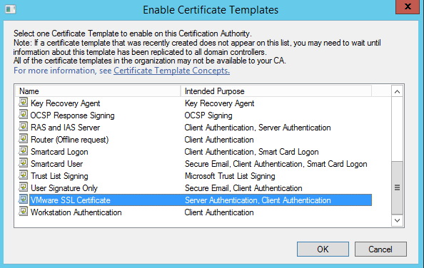 Certificates adventures in clouds snapcrabnoname2015 2 2711 43 50no 00 the vmware ssl certificate should then appear in the certificate templates yadclub Images